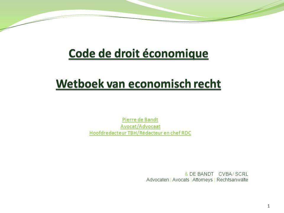Pierre de Bandt Avocat/Advocaat Hoofdredacteur TBH/Rédacteur en chef RDC & DE BANDT CVBA / SCRL Advocaten | Avocats | Attorneys | Rechtsanwälte 1