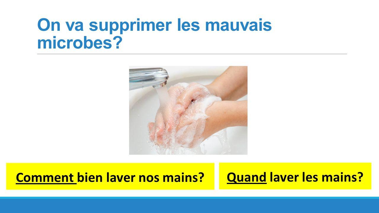 Quand laver nos mains?
