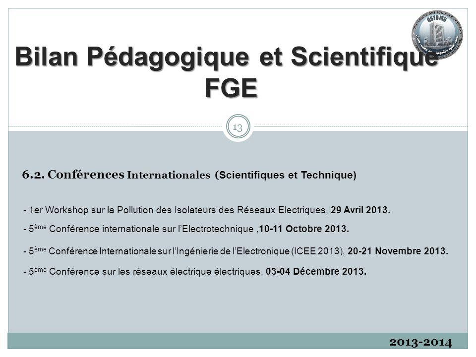 2013-2014 6.2. Conférences Internationales ( Scientifiques et Technique) 13 - 5 ème Conférence Internationale sur l'Ingénierie de l'Electronique (ICEE