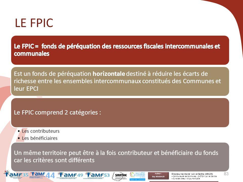 LE FPIC Est un fonds de péréquation horizontale destiné à réduire les écarts de richesse entre les ensembles intercommunaux constitués des Communes et