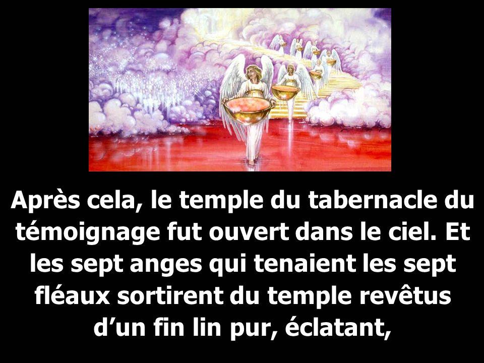 Après cela, le temple du tabernacle du témoignage fut ouvert dans le ciel.