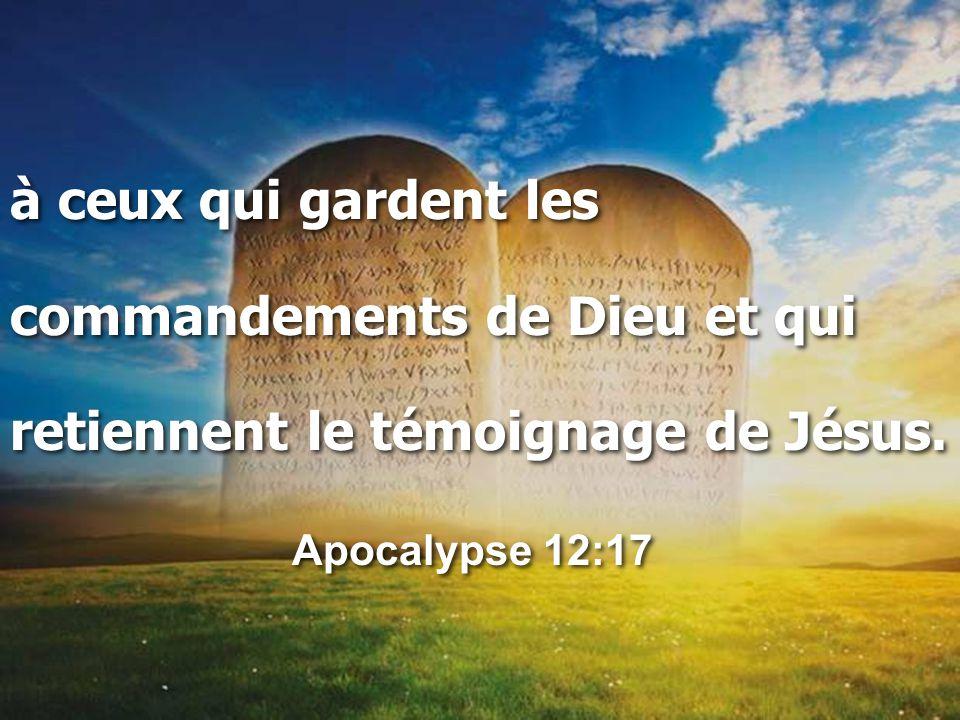 à ceux qui gardent les commandements de Dieu et qui retiennent le témoignage de Jésus.