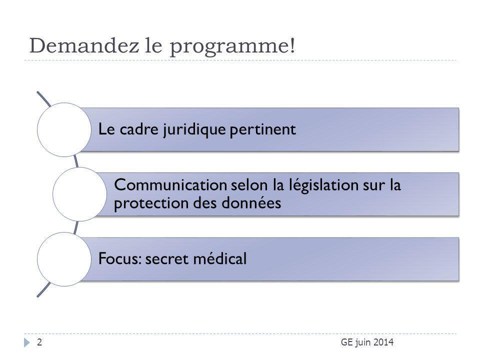Secret médical (professionnel) GE: Loi sur la santé du 7 avril 2006 Art.