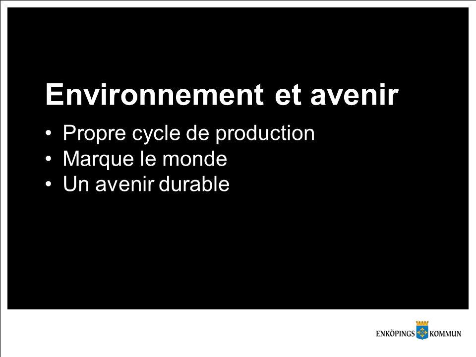 Environnement et avenir Propre cycle de production Marque le monde Un avenir durable