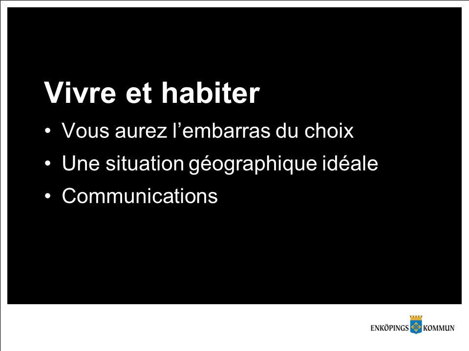 Vivre et habiter Vous aurez l'embarras du choix Une situation géographique idéale Communications
