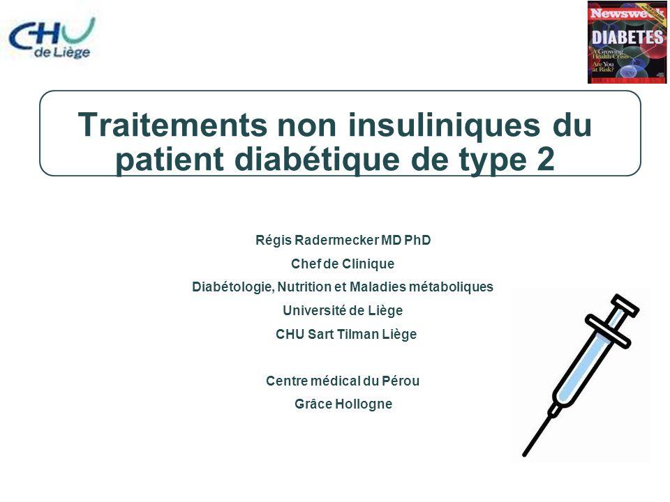 Incrétines primaires : GLP-1 et GIP Deux incrétines primaires ont été identifiées: –Glucagon-like peptide 1 (GLP-1) Synthétisé et libéré par les cellules L de l'iléon Différents sites d'action: pancreas, cellules  et , tractus gastro-intestinal, SNC, poumons et coeur Action liée au récepteur –Glucose-dependent insulinotropic polypeptide (GIP) Synthétisé et libéré par les cellules K du jéjunum Site d'action: principalement le pancréas, les cellules  ; agit aussi sur les adipocytes Action liée au récepteur Wei Y, et al.