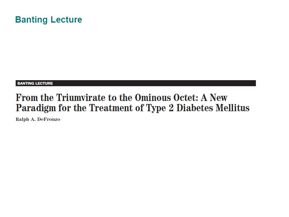 Banting Lecture