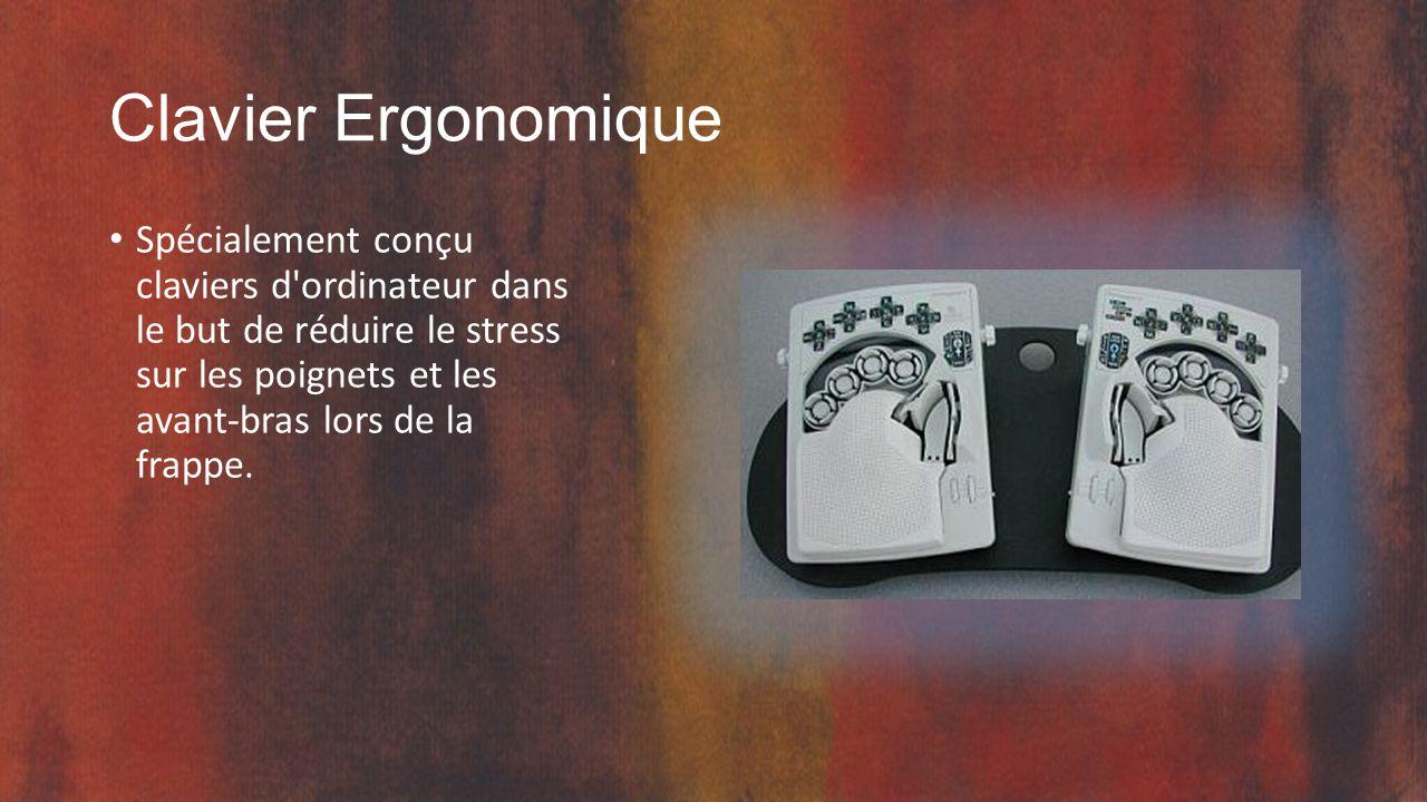 Clavier Ergonomique Spécialement conçu claviers d ordinateur dans le but de réduire le stress sur les poignets et les avant-bras lors de la frappe.
