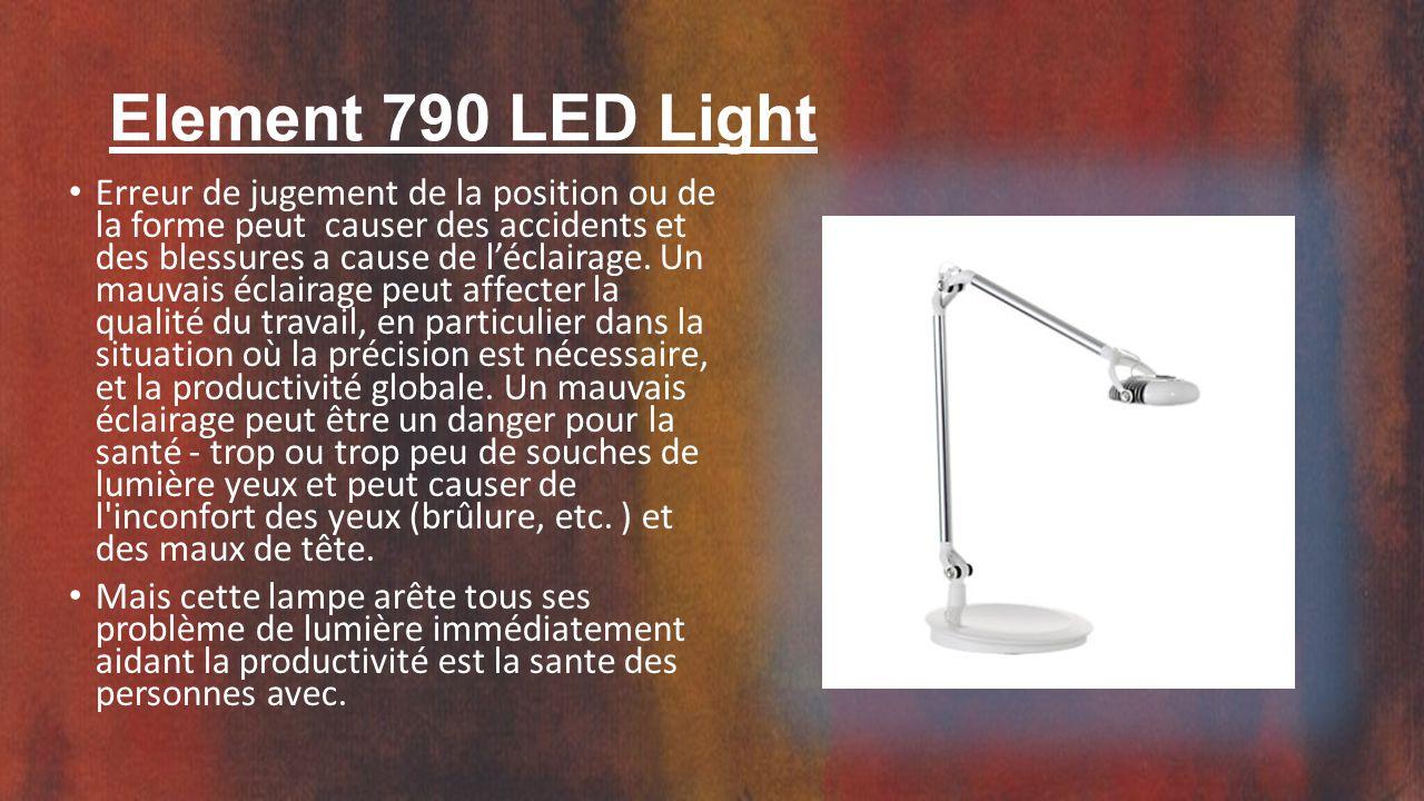 Element 790 LED Light Erreur de jugement de la position ou de la forme peut causer des accidents et des blessures a cause de l'éclairage.