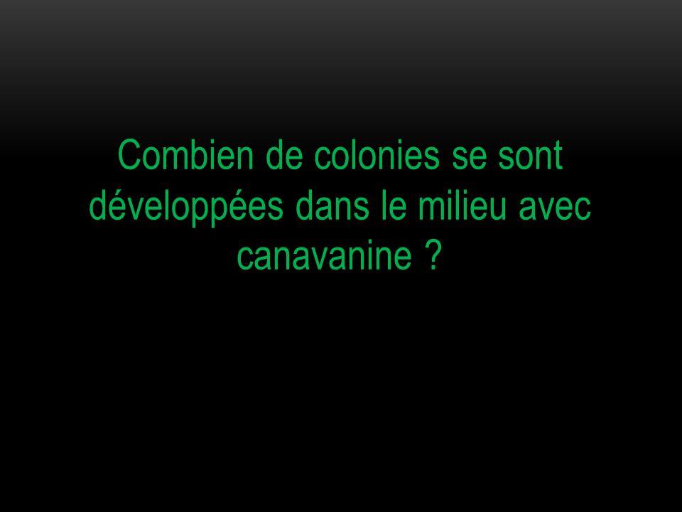 4 colonies de mutants [CanR] se sont développées dans un milieu contenant de la canavanine.
