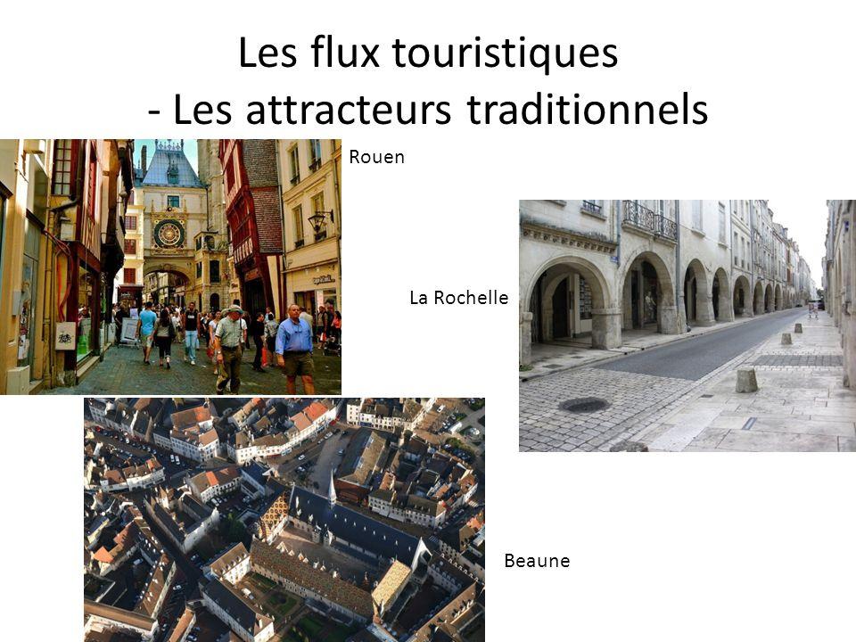 Les flux touristiques - Les attracteurs traditionnels Rouen La Rochelle Beaune