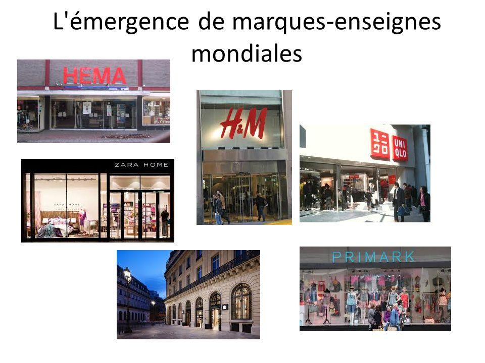 L'émergence de marques-enseignes mondiales