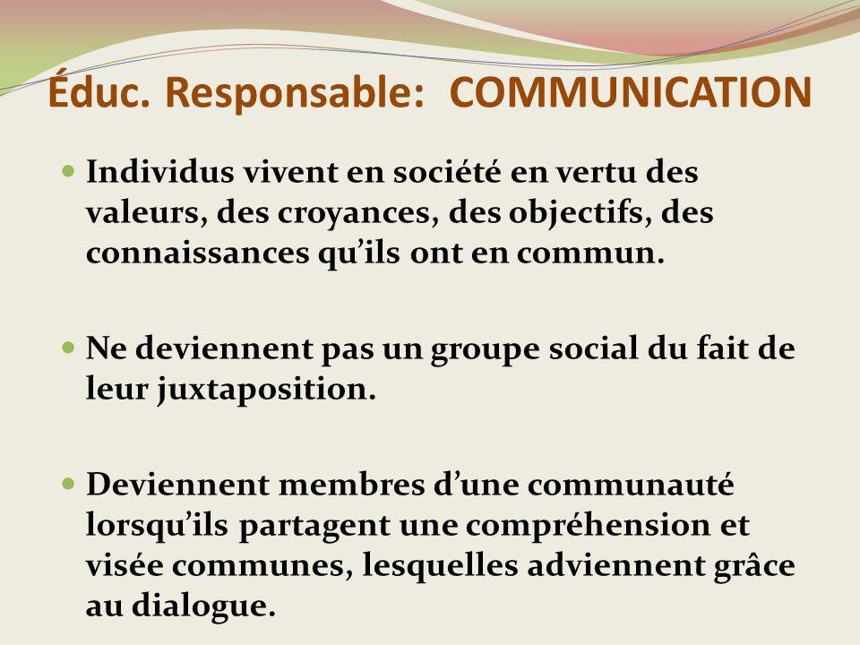 CONCLUSION L'école a la mission d'outiller les jeunes sur les plans intellectuel, social/éthique et personnel.
