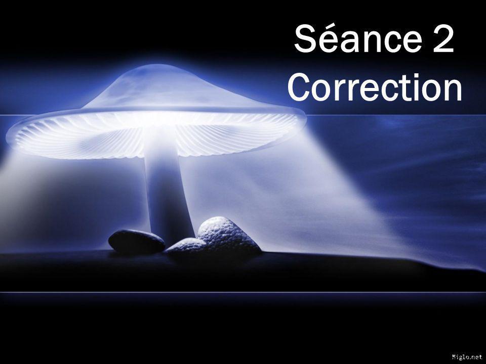 Séance 2 Correction