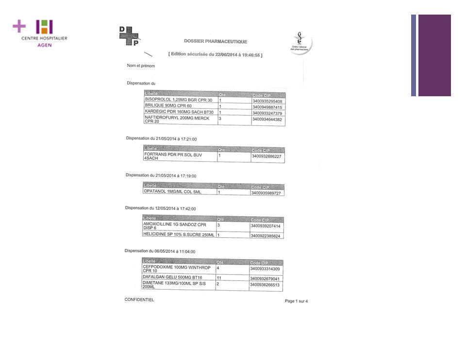 + Accessibilité du DP dans un service d'urgence Le Dossier Pharmaceutique est largement déployé dans le Lot et Garonne.