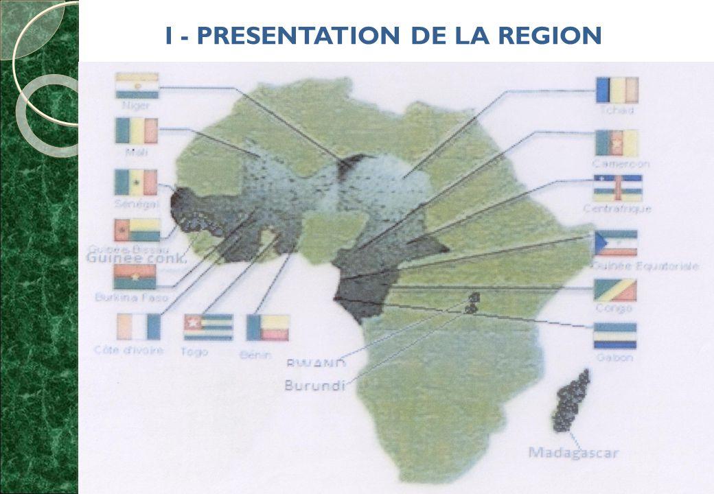 I - PRESENTATION DE LA REGION