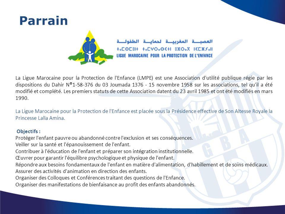 La Ligue Marocaine pour la Protection de l'Enfance (LMPE) est une Association d'utilité publique régie par les dispositions du Dahir N°1-58-376 du 03