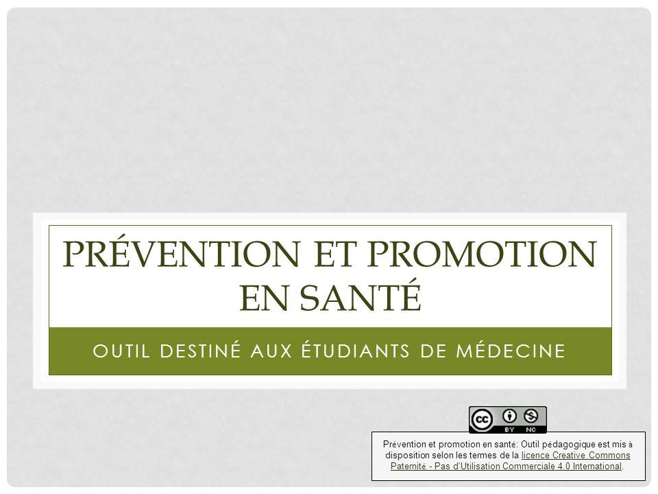 RÉPONSE Le dépistage fait partie de la prévention secondaire D.