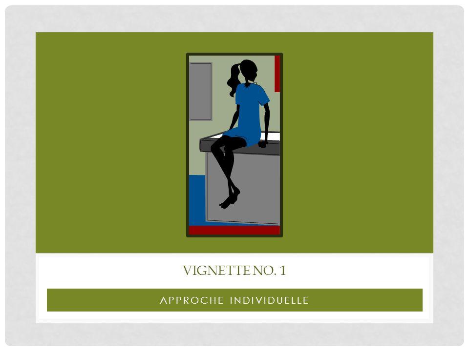 APPROCHE INDIVIDUELLE VIGNETTE NO. 1