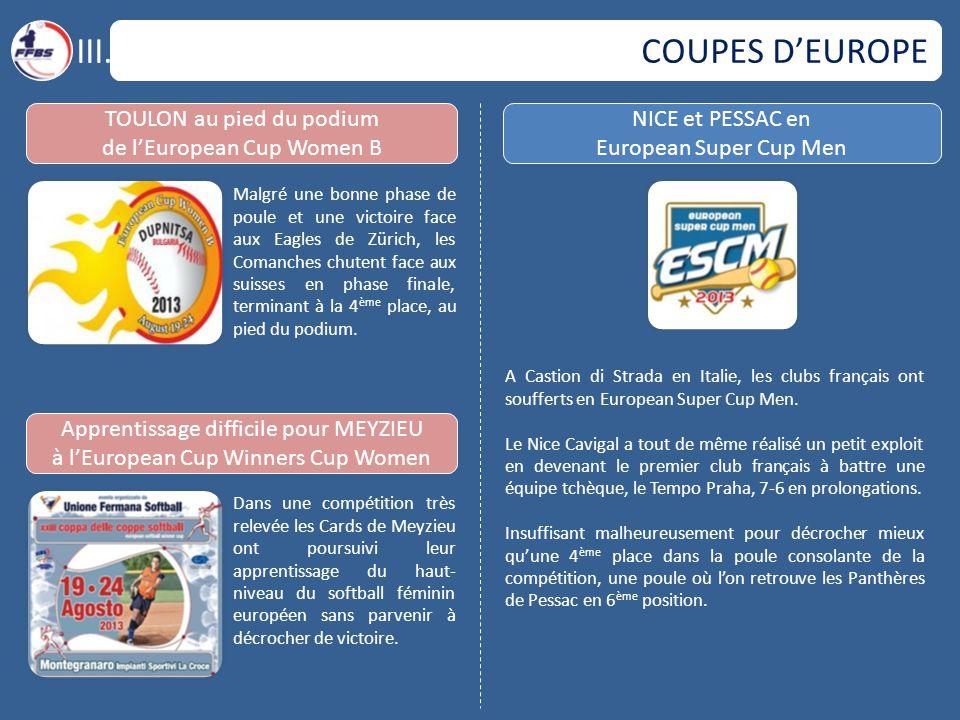COUPES D'EUROPE III.