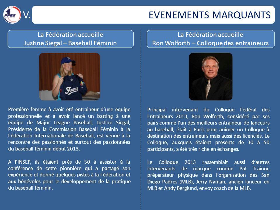 EVENEMENTS MARQUANTS V.