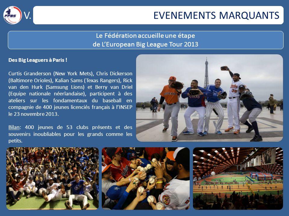 EVENEMENTS MARQUANTS V. Le Fédération accueille une étape de L'European Big League Tour 2013 Des Big Leaguers à Paris ! Curtis Granderson (New York Me