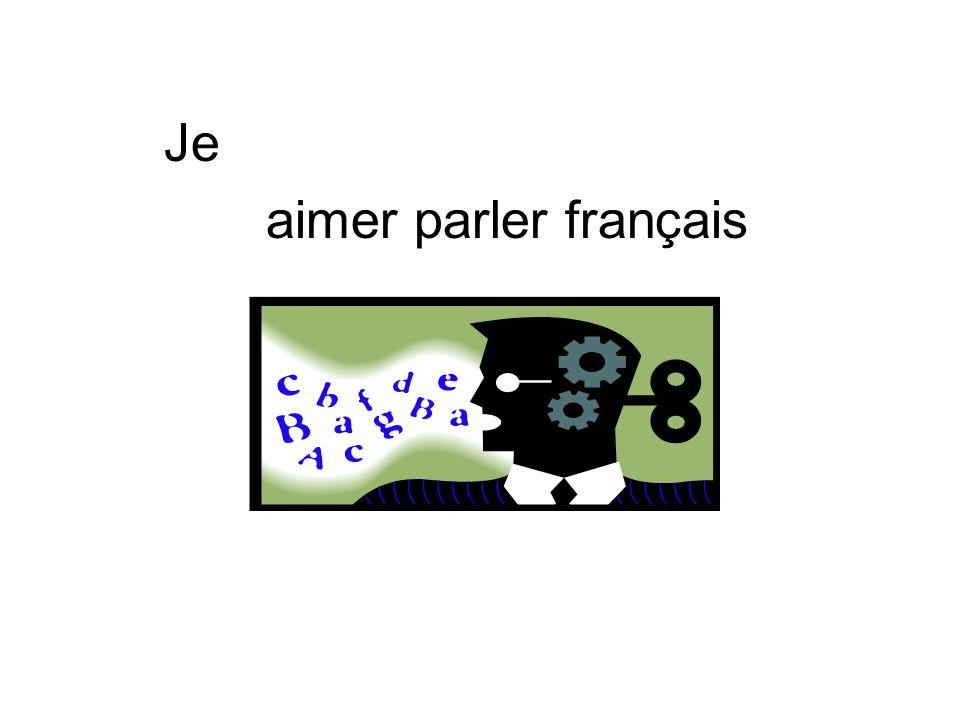 Je aimer parler français