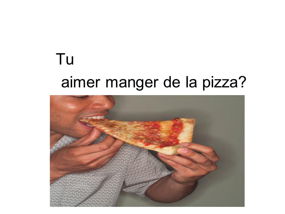 Tu aimer manger de la pizza?