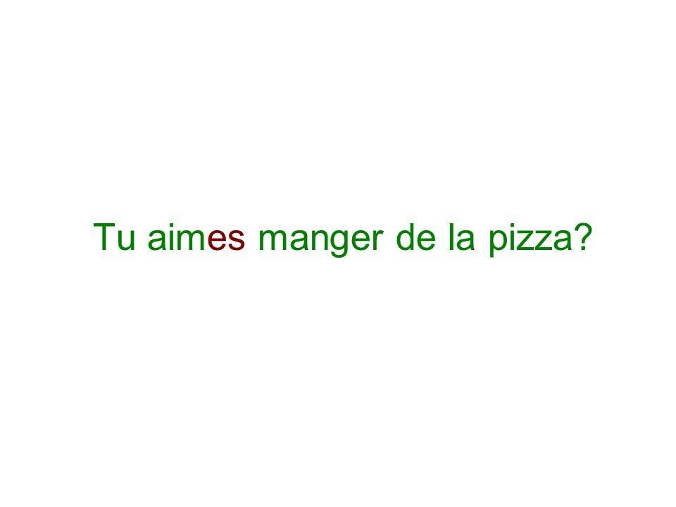 Tu aimes manger de la pizza?