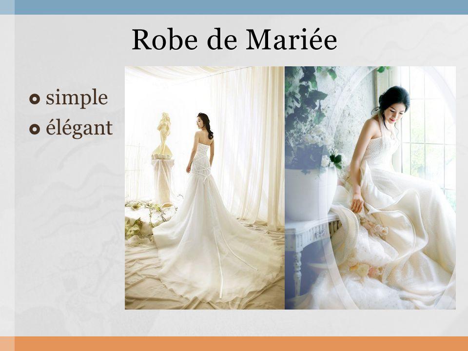  simple  élégant Robe de Mariée