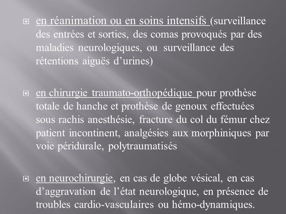 en réanimation ou en soins intensifs (surveillance des entrées et sorties, des comas provoqués par des maladies neurologiques, ou surveillance des r