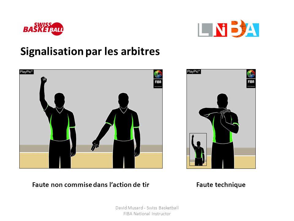 David Musard - Swiss Basketball FIBA National Instructor Signalisation par les arbitres Faute non commise dans l'action de tirFaute technique