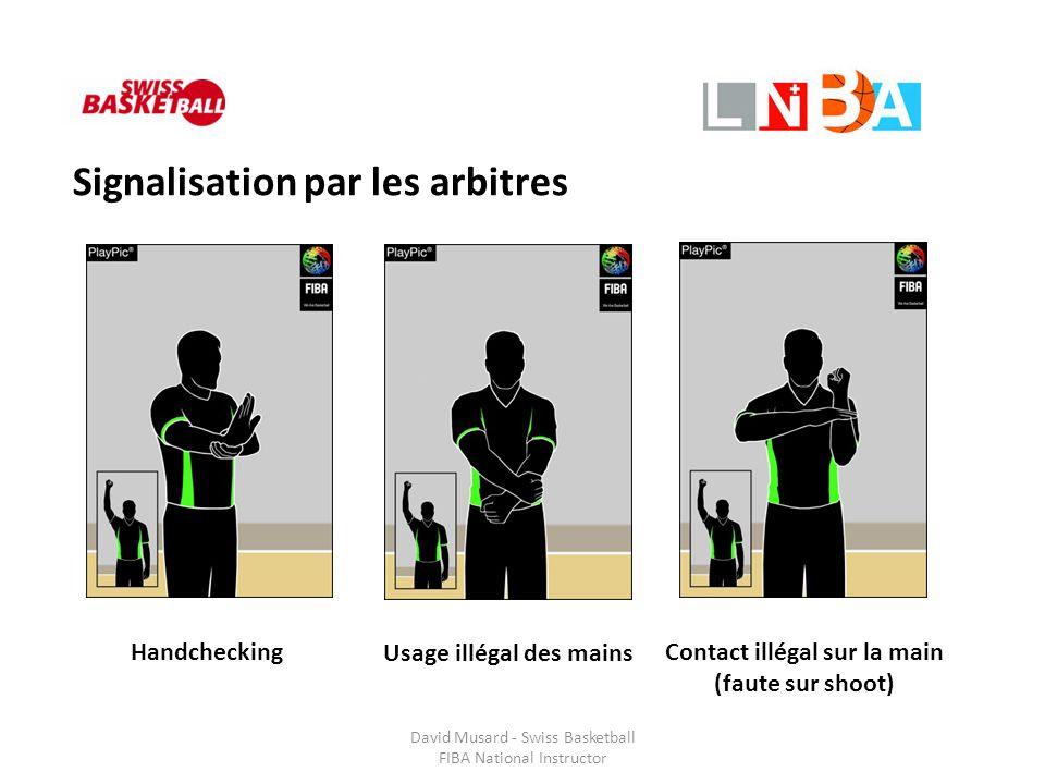 David Musard - Swiss Basketball FIBA National Instructor Signalisation par les arbitres Handchecking Usage illégal des mains Contact illégal sur la ma
