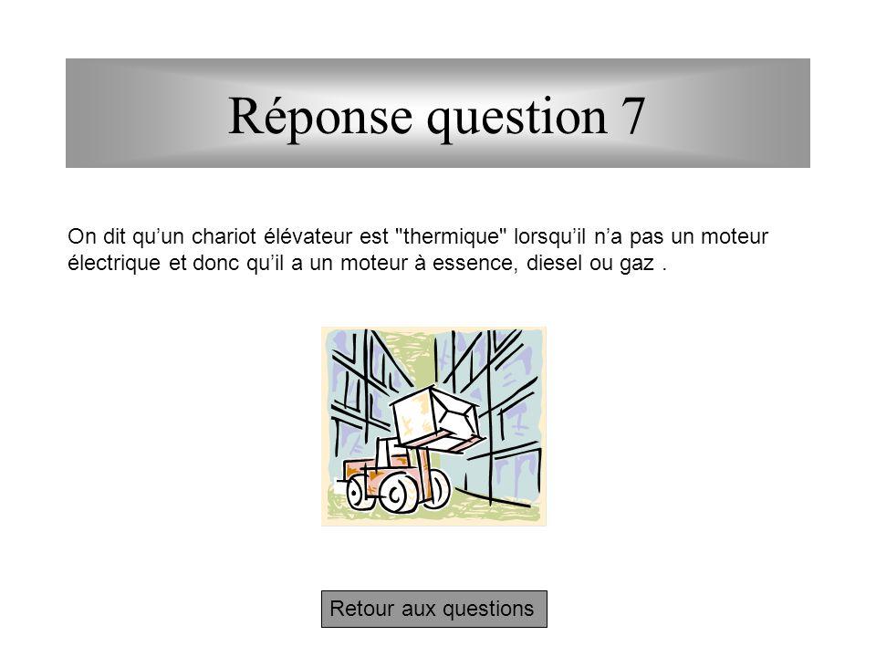 Réponse question 6 Retour aux questions Si, comme il est toujours recommandé, le chargement ne dépasse pas la surface de la palette, on peut mettre 3