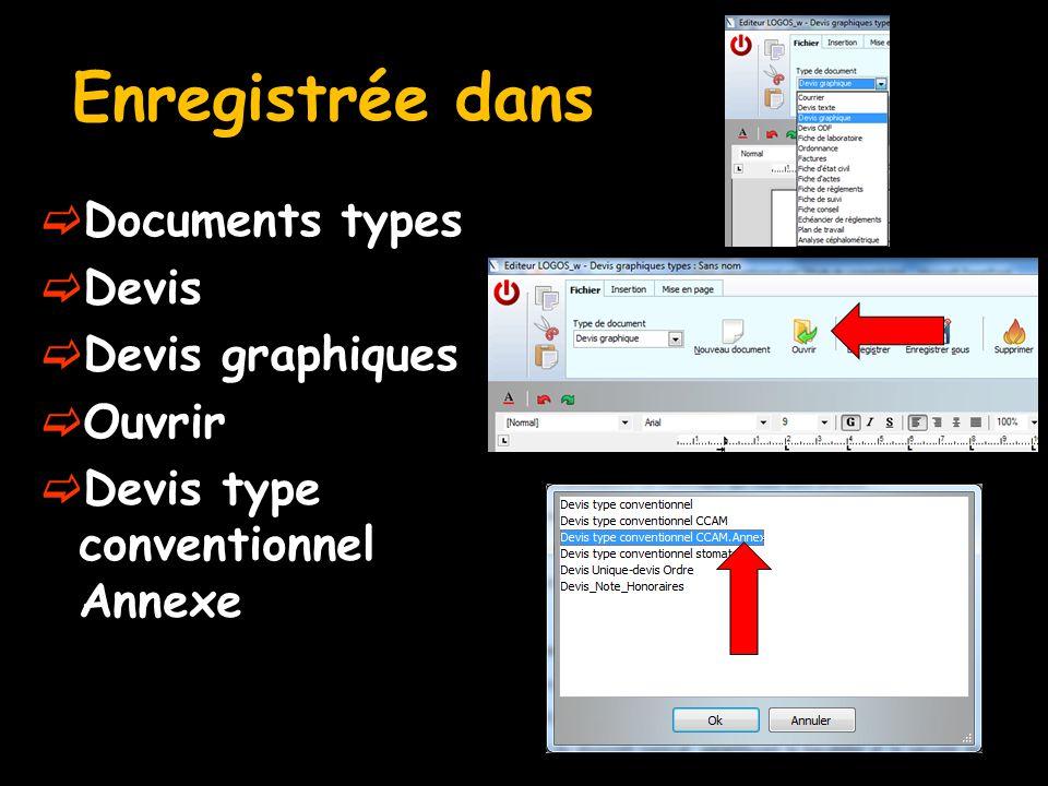Enregistrée dans  Documents types  Devis  Devis graphiques  Ouvrir  Devis type conventionnel Annexe