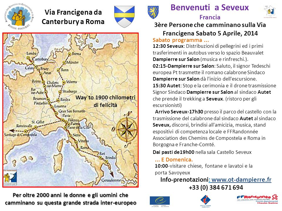 Bienvenue à Seveux Samedi 5 avril 2014 Savoyeux-Seveux-La Saône
