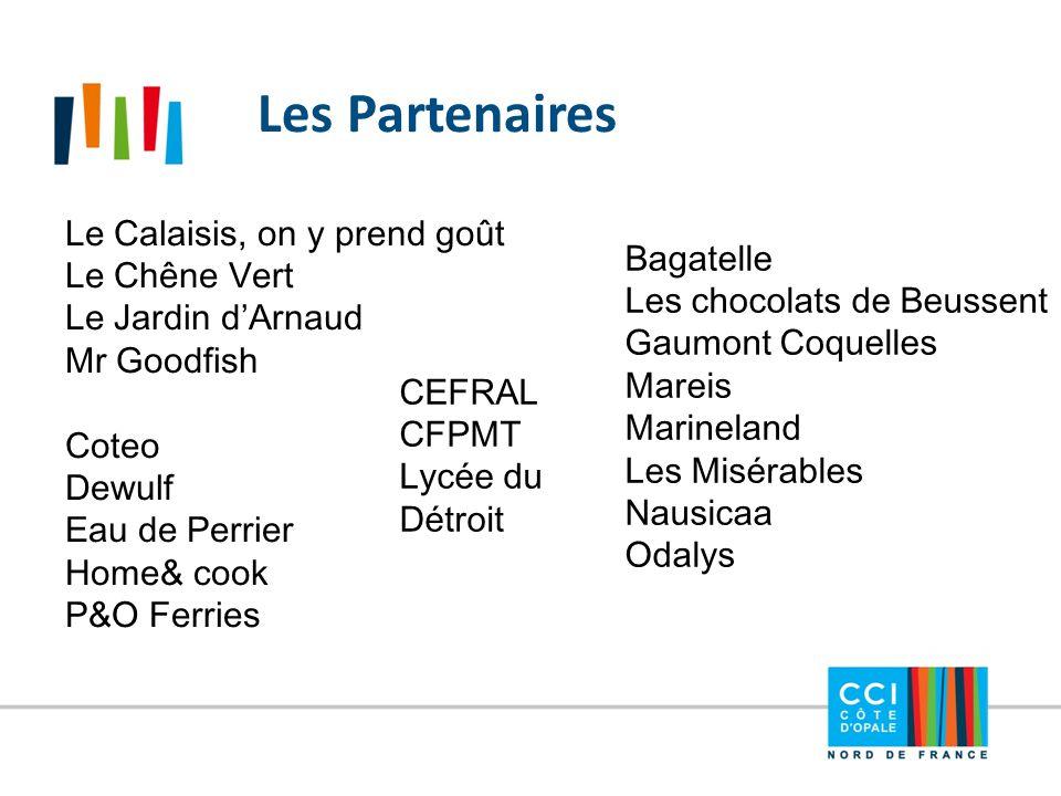Les Partenaires Le Calaisis, on y prend goût Le Chêne Vert Le Jardin d'Arnaud Mr Goodfish Coteo Dewulf Eau de Perrier Home& cook P&O Ferries Bagatelle