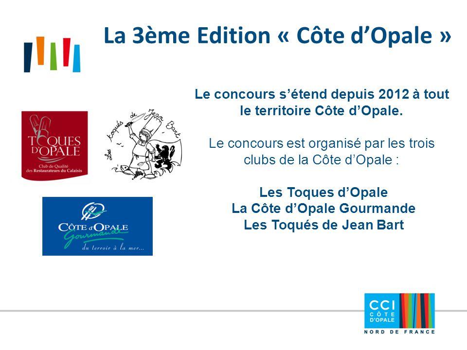 La 3ème Edition « Côte d'Opale » Le concours s'étend depuis 2012 à tout le territoire Côte d'Opale. Le concours est organisé par les trois clubs de la
