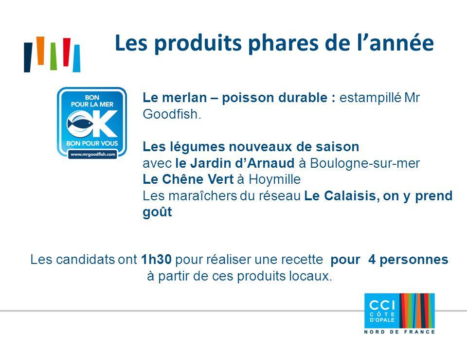 Les produits phares de l'année Le merlan – poisson durable : estampillé Mr Goodfish. Les légumes nouveaux de saison avec le Jardin d'Arnaud à Boulogne