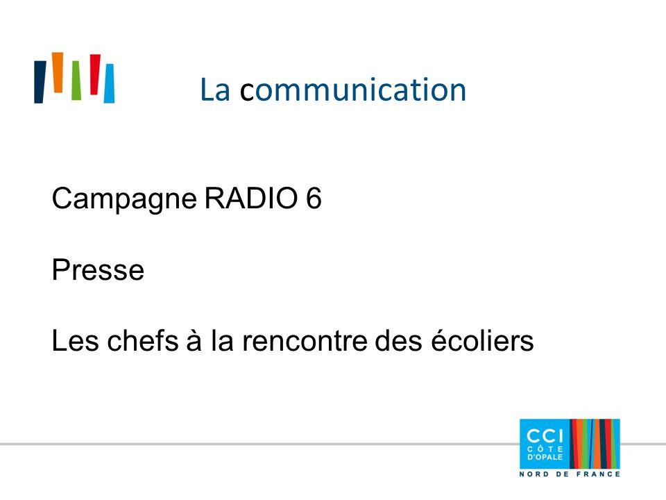 La communication Campagne RADIO 6 Presse Les chefs à la rencontre des écoliers