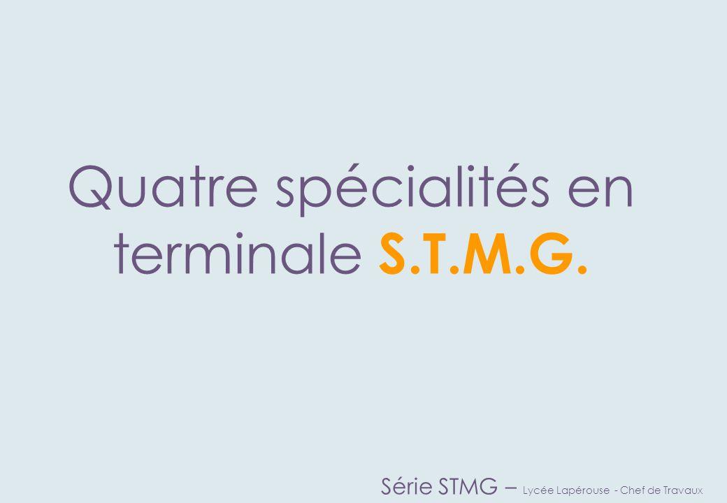 Vous aimeriez ChoisissezChoisissez Série STMG – Lycée Lapérouse - Chef de Travaux Connaître les mécanismes nécessaires à la bonne gestion d'une entreprise.