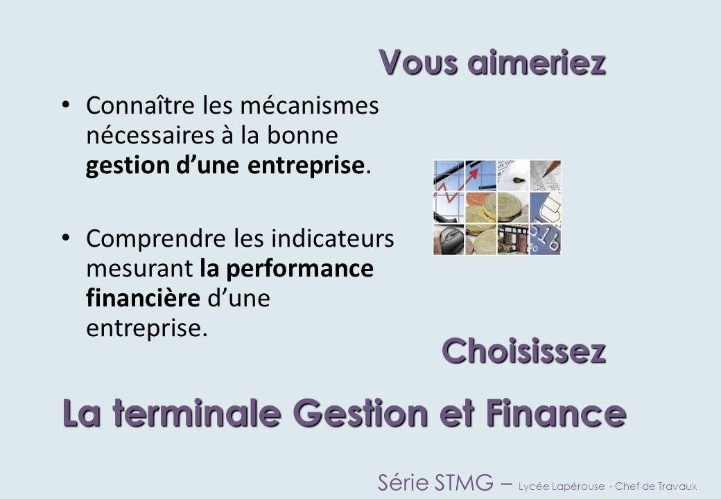 Vous aimeriez ChoisissezChoisissez La terminale Mercatique (marketing) Série STMG – Lycée Lapérouse - Chef de Travaux Etudier les comportements des consommateurs.
