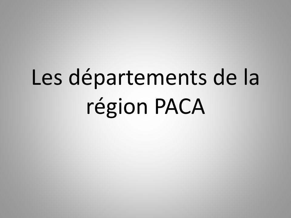 Les départements de la région PACA