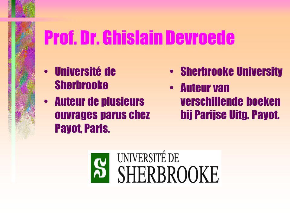 Prof.Dr. Walter Poelman Cas concrets de personnes victimes de harcèlement.