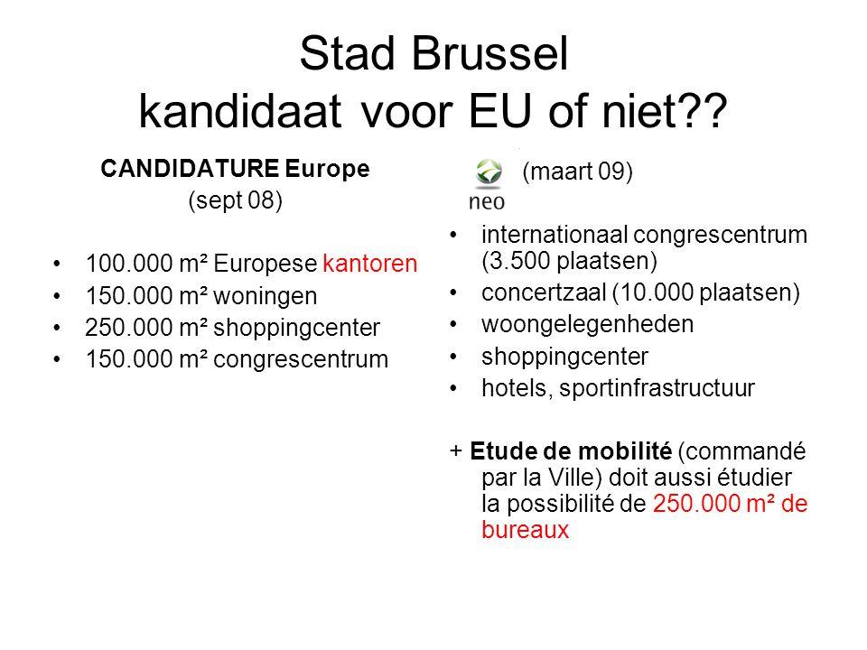 Stad Brussel kandidaat voor EU of niet .