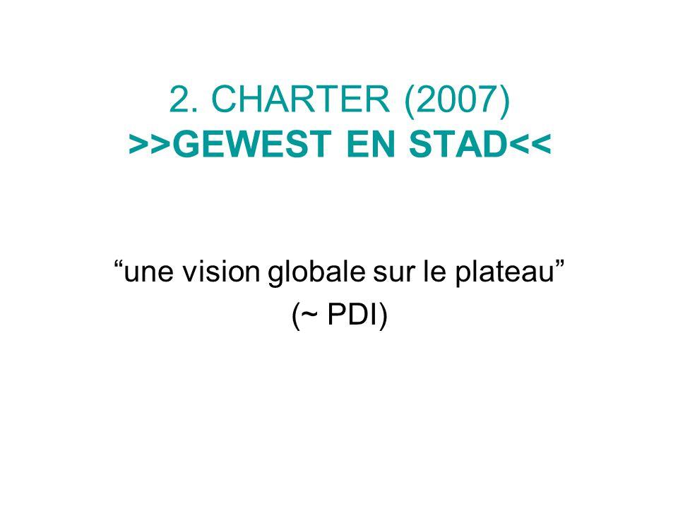 2. CHARTER (2007) >>GEWEST EN STAD<< une vision globale sur le plateau (~ PDI)