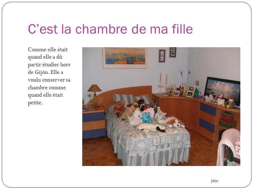 C'est la chambre de ma fille Comme elle était quand elle a dû partir étudier hors de Gijón. Elle a voulu conserver sa chambre comme quand elle était p