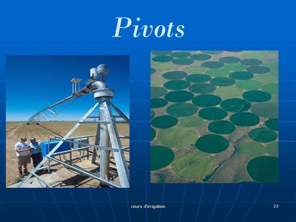 Pivots 23 cours d'irrigation