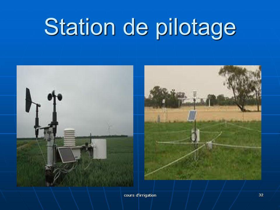 Station de pilotage 32 cours d'irrigation