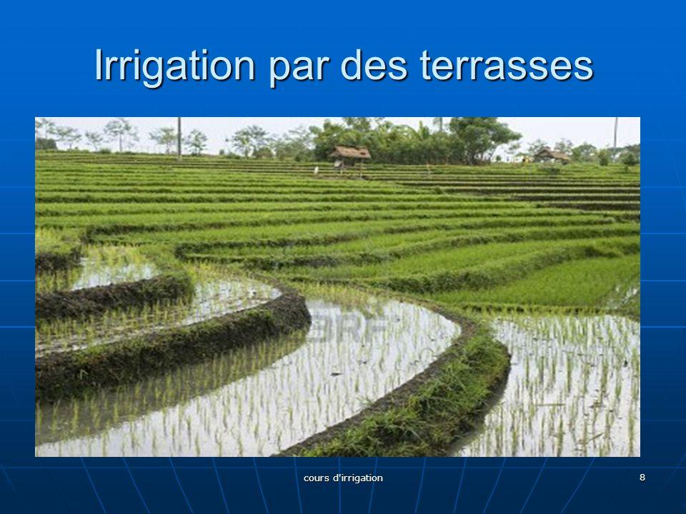 Irrigation par des terrasses 8 cours d irrigation